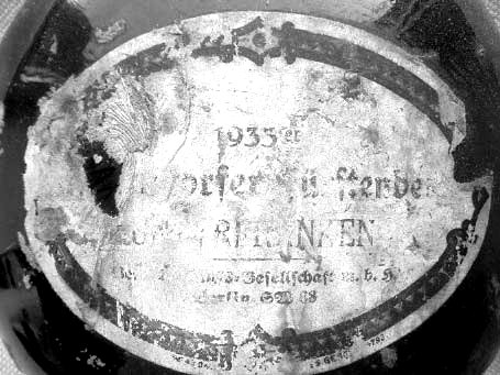 1933bottle etikett
